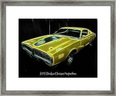 1971 Dodge Charger Superbee - Electric Framed Print