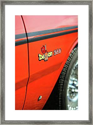 1971 Dodge Demon - Hemi Orange Framed Print by Gordon Dean II