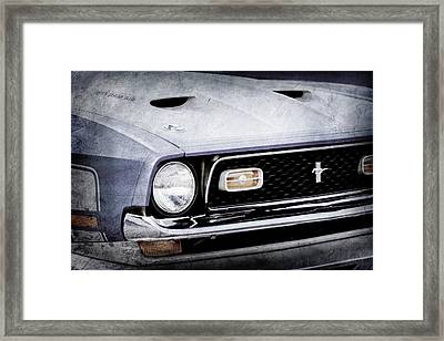 1971 Ford Mustang Boss 351 Cleveland Grille -1251ac Framed Print by Jill Reger