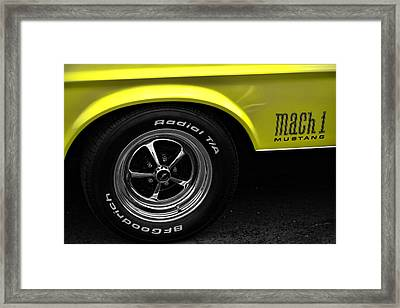 1971 Ford Mustang Mach 1 Framed Print