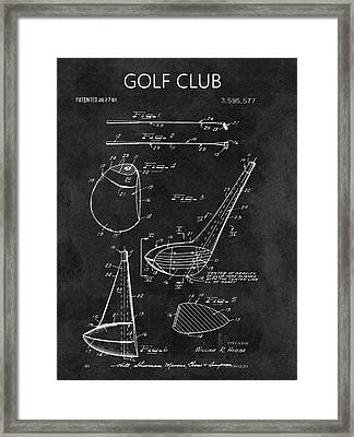 1971 Golf Club Blueprint Illustration Framed Print