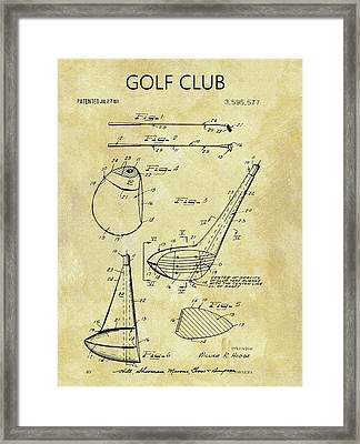 1971 Golf Club Patent Framed Print