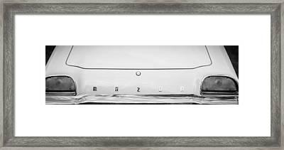 1971 Mazda Cosmo Taillight Emblem -0733bw Framed Print