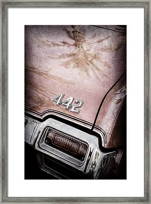 1971 Oldsmobile 442 Convertible Tail Light Emblem -0445ac Framed Print