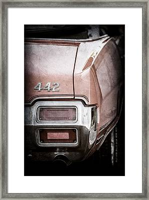 1971 Oldsmobile 442 Convertible Tail Light Emblem -1683ac Framed Print
