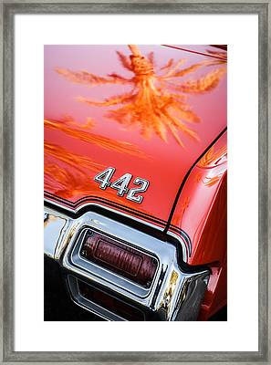 1971 Oldsmobile 442 Convertible Taillight Emblem -0445c Framed Print