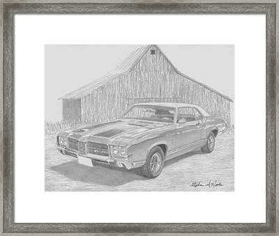 1971 Oldsmobile Cutlass Supreme Muscle Car Art Print Framed Print by Stephen Rooks