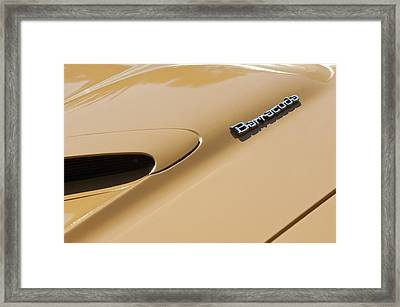 1971 Plymouth Barracuda Convertible 318 Ci Hood Emblem Framed Print