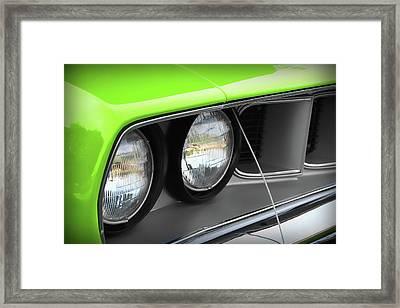 1971 Plymouth Barracuda Cuda Sublime Green Framed Print by Gordon Dean II