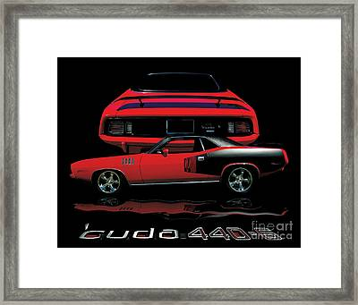 1971 Plymouth Cuda 440 Six Pack    Framed Print