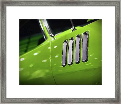 1971 Plymouth 'cuda Fender Gills Framed Print by Gordon Dean II
