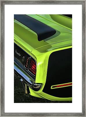 1971 Plymouth Hemicuda Hemi Cuda Barracuda Framed Print by Gordon Dean II
