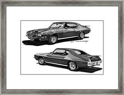 1971 Pontiac G T O Coming And Goin Framed Print by Jack Pumphrey