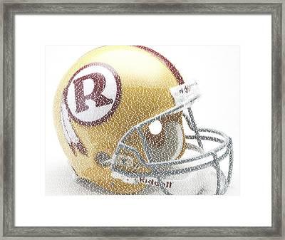 1971 Redskins Helmet Greatest Players Mosaic Framed Print by Paul Van Scott