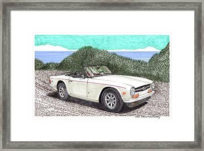 1971 Triumph T R 6 Framed Print by Jack Pumphrey