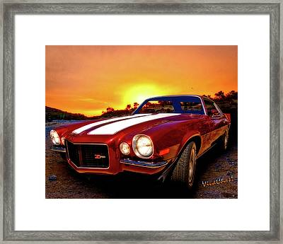 1971 Z28 Camaro Hdr Vivid Remembrance Framed Print