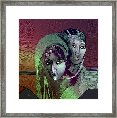 Framed Print featuring the digital art 1972 - 0n A Gloomy Day - 2017 by Irmgard Schoendorf Welch