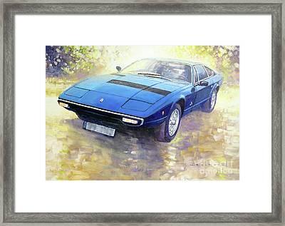 1972 Maserati Khamsin  Framed Print by Yuriy Shevchuk