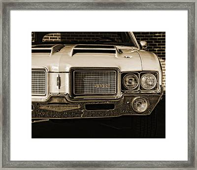 1972 Olds 442 - Sepia Framed Print