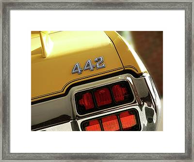 1972 Oldsmobile Cutlass 4-4-2 Framed Print