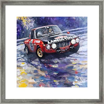 1972 Rallye Monte Carlo Lancia Fulvia 1600hf Munari Mannucci Winner Framed Print