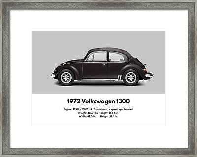1972 Volkswagen 1300 - Custom Framed Print