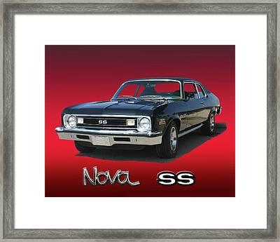 1973 Chevrolet Nova Ss 350 Framed Print