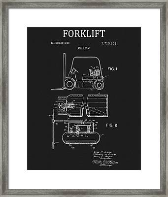 1973 Forklift Patent Framed Print by Dan Sproul