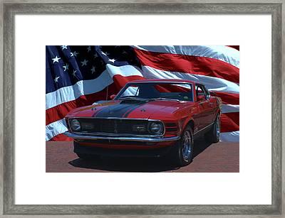 1970 Mustang Mach I Framed Print