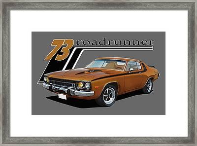 1973 Roadrunner Framed Print
