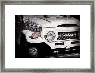 1973 Toyota Fj40 Land Cruiser Grille Emblem -1918ac Framed Print by Jill Reger