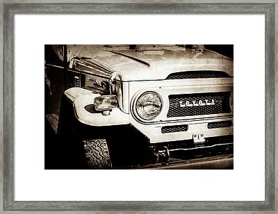 1973 Toyota Fj40 Land Cruiser Grille Emblem -1918s Framed Print by Jill Reger