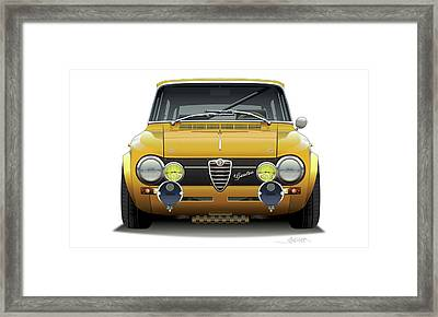 1974 Alfa Romeo Giulia Framed Print by Alain Jamar