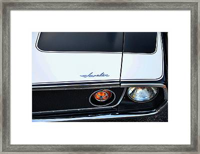 1974 Amc Javelin Front Framed Print by Paul Ward