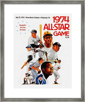1974 Baseball All Star Game Program Framed Print