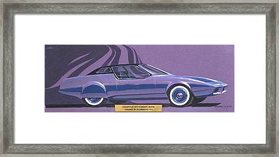 1974 Duster  Plymouth Styling Design Concept Sketch Framed Print by John Samsen