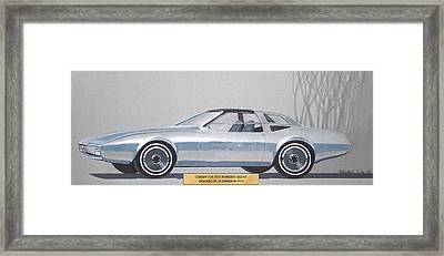 1974 Duster  Plymouth Vintage Styling Design Concept Sketch  Framed Print by John Samsen