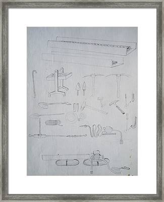 1974 Gold Prospector's Tools Framed Print by Ken Day