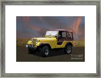 1975 Cj5 Jeep Framed Print