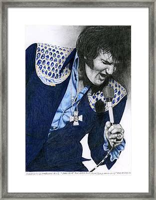 1975 Dark Blue Two Piece Suit Blue Gold Ornaments Framed Print