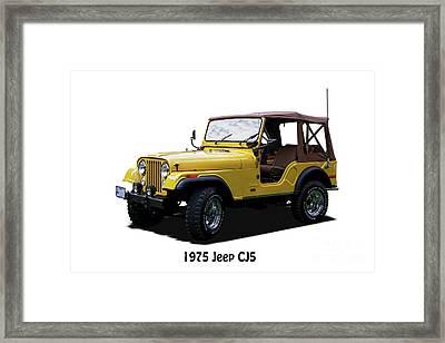 1975 Jeep Cj5 Soft Top Framed Print