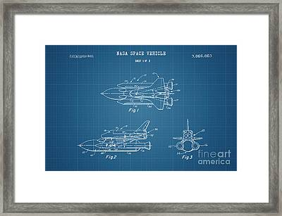 1975 Nasa Space Shuttle Patent Art 4 Framed Print by Nishanth Gopinathan