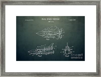 1975 Nasa Space Shuttle Patent Art 5 Framed Print by Nishanth Gopinathan