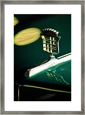 1976 Cadillac Fleetwood Hood Ornament Framed Print by Jill Reger