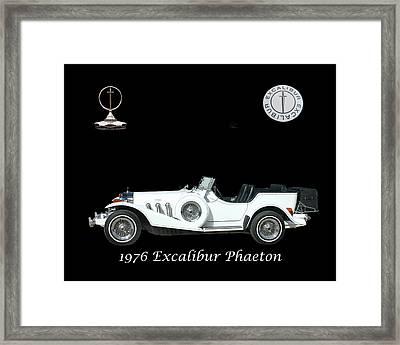 1976 Excalibur Poster Framed Print by Jack Pumphrey