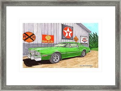 1976 Ford Thunderbird Framed Print by Jack Pumphrey