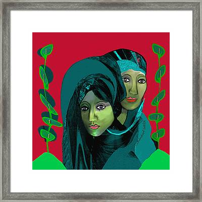 Framed Print featuring the digital art 1976 - Gloom by Irmgard Schoendorf Welch