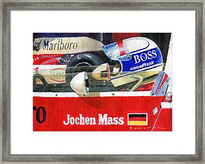 1976 Jarama Marlboro F1 Team Mclaren Jochen Mass Framed Print