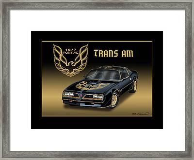 1977 Pontiac Trans Am Bandit Framed Print