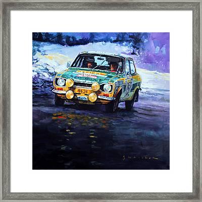1977 Rallye Monte Carlo Ford Escort Rs 2000 #152 Beauchef Dubois Keller Framed Print